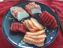 Enorm japansk mat: Sashimi Shanghai, Kina Fotografering för Bildbyråer