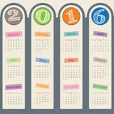 Enorm kalender 2017 med design för dörrhängare Arkivbilder