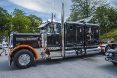 Enorm lastbil, peterbilt Royaltyfri Fotografi