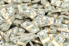 enorm pengarstapel Arkivbilder