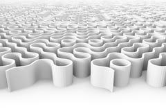 Enorm rundad labyrintstruktur med åtskilliga ingångar Arkivbilder