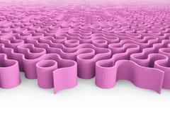 Enorm rundad purpurfärgad labyrintstruktur med åtskilliga ingångar Royaltyfri Foto