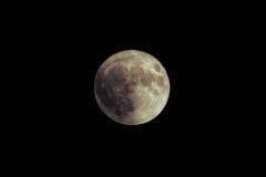 Enorm sällsynt toppen måne över Black Sea Störst toppen måne efter 1948 November 14th, 2016 Arkivbilder