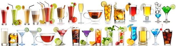 Enorm samling av drinkar Royaltyfri Bild