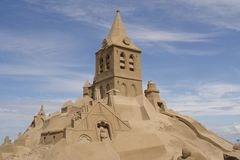 enorm sandcastle arkivbild