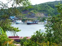 Enorm sikt i Oak Ridge, Roatan, Honduras royaltyfria foton