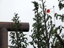 Enorm toriiport ingången av en japansk tempel royaltyfri bild