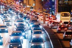 Enorm trafikstockning Arkivbild