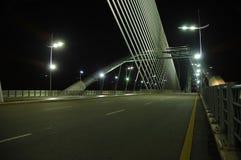 enorm väg för bro Royaltyfria Bilder