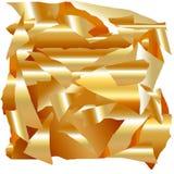 Enorma guld- metalliska flingor stock illustrationer