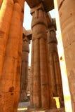 Enorma kolonner som den Luxor för lotusblommablomma templet Fotografering för Bildbyråer