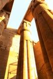 Enorma kolonner som den Luxor för lotusblommablomma templet Arkivfoton