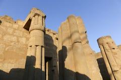 Enorma kolonner som den Luxor för lotusblommablomma templet Royaltyfri Bild