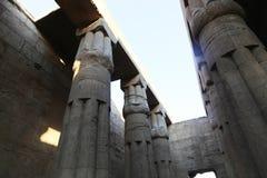 Enorma kolonner som den Luxor för lotusblommablomma templet Arkivfoto