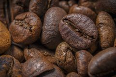 Enorma korn av kaffe Arkivfoto