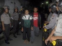 ENORMA OLÖSTA KALLA FALL FÖR DEN INDONESISKA POLISEN Fotografering för Bildbyråer