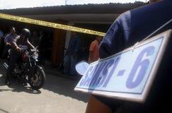 ENORMA OLÖSTA KALLA FALL FÖR DEN INDONESISKA POLISEN Arkivfoton