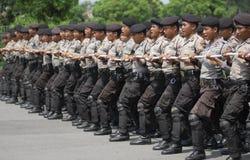 ENORMA OLÖSTA KALLA FALL FÖR DEN INDONESISKA POLISEN Royaltyfria Bilder