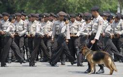ENORMA OLÖSTA KALLA FALL FÖR DEN INDONESISKA POLISEN Royaltyfri Bild