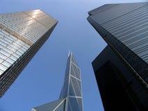 enorma skyskrapor Arkivfoton
