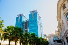 Enorma skyskrapor i Saigon chihominh vietnam Fotografering för Bildbyråer