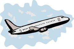 Enorme - descolagem do avião do jato Imagens de Stock Royalty Free
