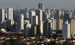 Enorme Gebäude, Sao Paulo Stockfotografie