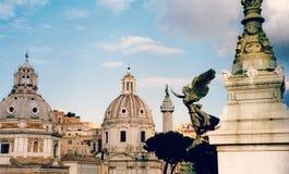 Enorme mening van Rome, Italië Stock Foto