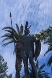 Enorme Statue von Achilleus im Garten der Achilleions-Palast auf der Insel von Korfu Griechenland errichtet von der Kaiserin Eliz Lizenzfreies Stockbild