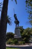 Enorme Statue von Achilleus im Garten der Achilleions-Palast auf der Insel von Korfu Griechenland errichtet von der Kaiserin Eliz Stockfotografie