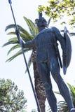 Enorme Statue von Achilleus im Garten der Achilleions-Palast auf der Insel von Korfu Griechenland errichtet von der Kaiserin Eliz Lizenzfreie Stockfotografie
