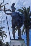 Enorme Statue von Achilleus im Garten der Achilleions-Palast auf der Insel von Korfu Griechenland errichtet von der Kaiserin Eliz Stockbilder