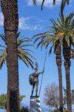 Enorme Statue von Achilleus im Garten der Achilleions-Palast auf der Insel von Korfu Griechenland errichtet von der Kaiserin Eliz Stockbild
