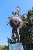 Enorme Statue von Achilleus im Garten der Achilleions-Palast auf der Insel von Korfu Griechenland errichtet von der Kaiserin Eliz Stockfotos