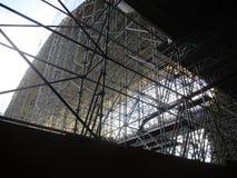 Enorme steiger voor een brug Stock Foto