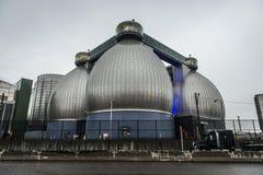 Enorme verbundene Speicher der Abwasserbehandlungs-Industrieanlage Stockbild