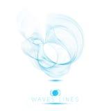 Enorme Wellen der schönen Mischung der Logoikone extrahieren Hintergrund Stockbild
