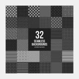Enormer Satz von 32 einfachen geometrischen Mustern lizenzfreie abbildung