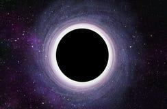 Enormes schwarzes Loch in der Mitte der Galaxie - 3D übertrug Digital-Illustration Lizenzfreie Stockfotografie