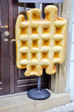 enormous artificial waffle Royalty Free Stock Photo
