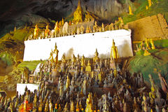 Enormous Buddha image inside of Ting cave,Lao Stock Photography