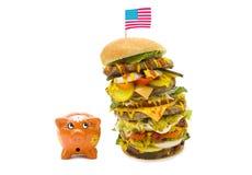 Enormous burger Stock Photo
