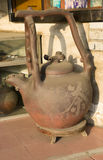 Enormous ceramic teapot on the street in front of shop, Guangzhou, China Stock Images