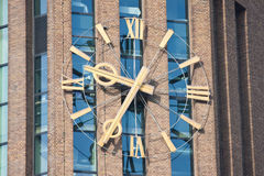 Enormous clock of a tower in the netherlands Royalty Free Stock Photo