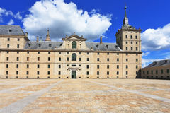 Enormous monument of Escorial in Spain Royalty Free Stock Photos