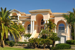 Enormous neo mediterranean home Royalty Free Stock Photos