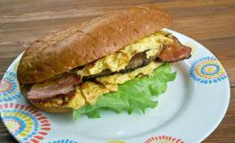 Enormous Omelet Sandwich Royalty Free Stock Image