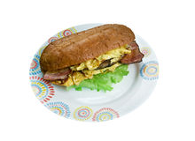 Enormous Omelet Sandwich Stock Photo