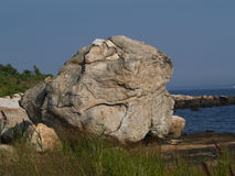 Enormous Rock Formation On Beach Stock Images