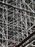 Enormous scaffolding for a bridge Stock Image